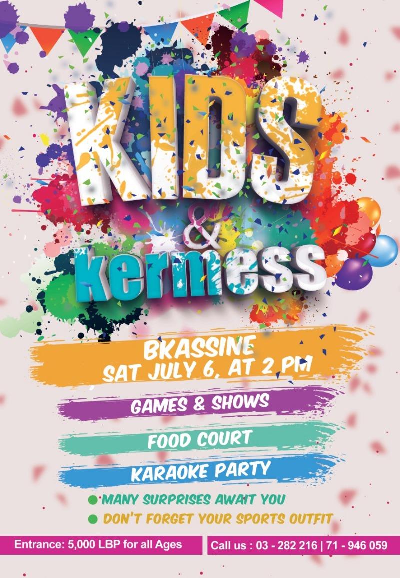 Kids Kermess في بكاسين 6 تموز