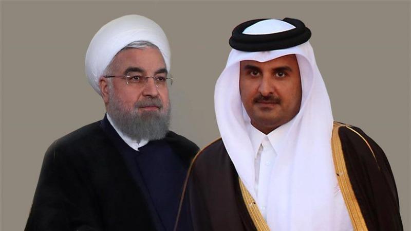 أمير قطر اتصل بالرئيس الايراني للتهنئة