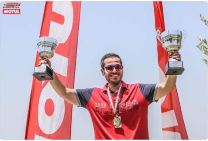 الياس روجيه الدهني ابن جنسنايا بطل بكأسين في 2nd Lebanese Speed Test